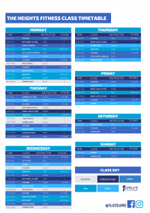 1Leisure The Heights Fitness Class Timetable